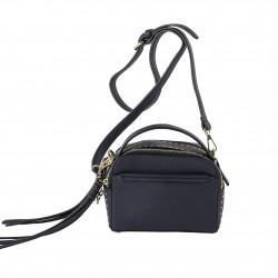 Shoulder bag Energi in eco-leather blue
