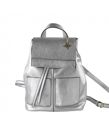 Сумка рюкзак Бетти, искусственная кожа цвет серебряный