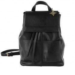 Bag backpack, Betty, in faux leather color black