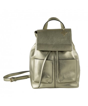 Rucksack handtasche Betty, kunstleder farbe platin