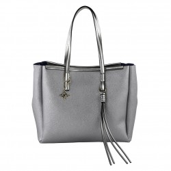 Shoulder bag Real leather grey