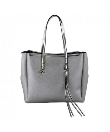 Bolsa de ombreiro Real coiro gris