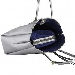 Shoulder bag Real leather grey