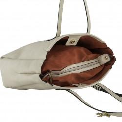 Shoulder bag Genuine leather beige