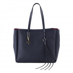 Shoulder bag Real leather blue
