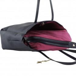 Bolsa de ombreiro Real de coiro azul