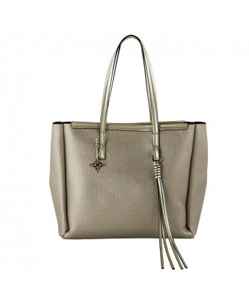 Shoulder bag Real leather gold