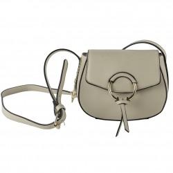 Bolsa de ombreiro Anita en eco-coiro beige