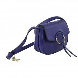 Bolso de hombro de Anita en eco-cuero azul
