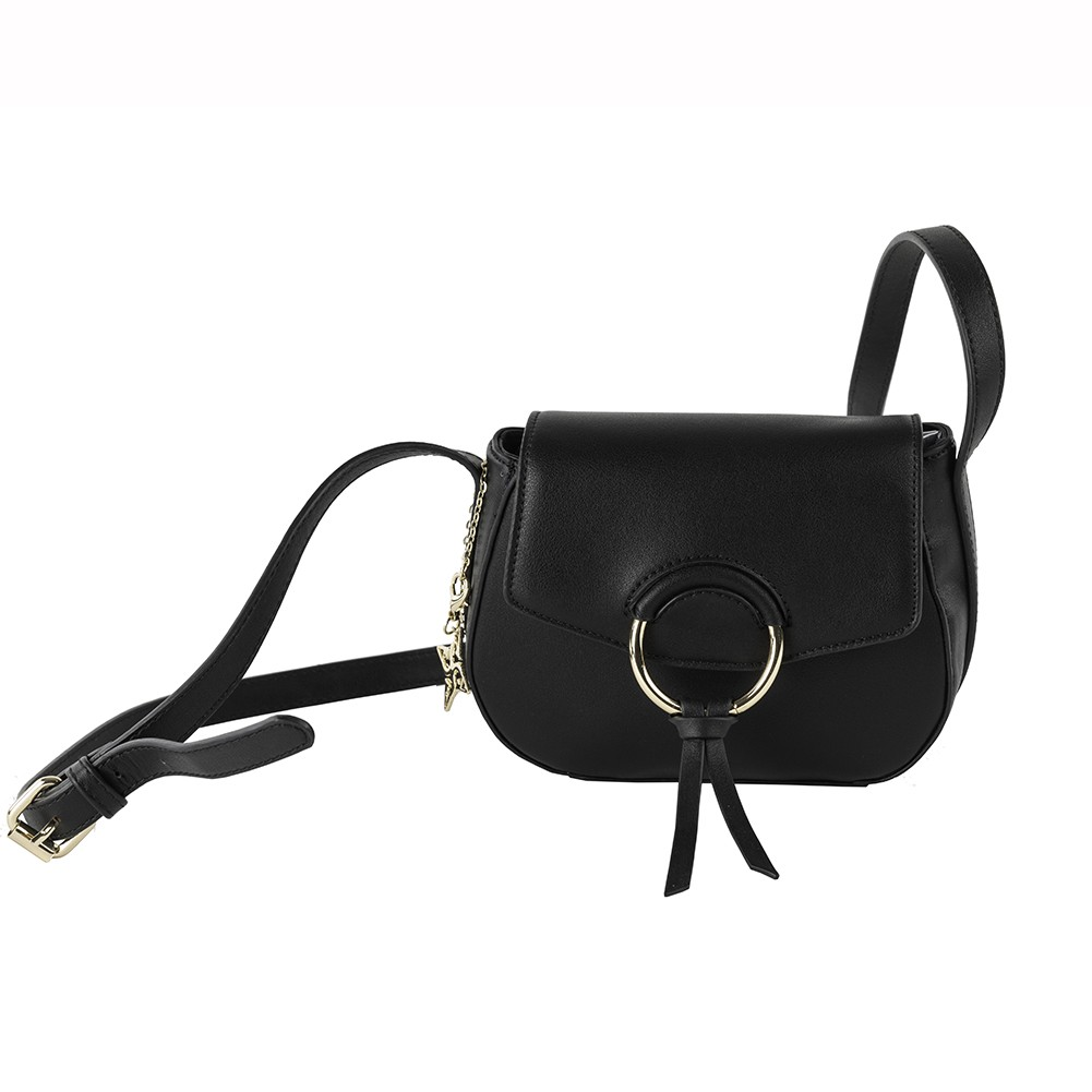 45af043760 Borsa a tracolla Anita in ecopelle nero. Loading zoom