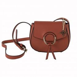 Shoulder bag Anita in eco-leather red