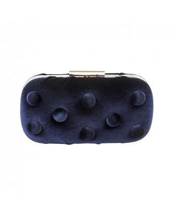 Borsa clutch, Marusca, in velluto blu