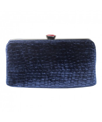 Borsa clutch Wendi blu, in velluto