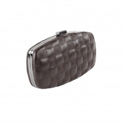 Borsa clutch Lida marrone, in ecopelle