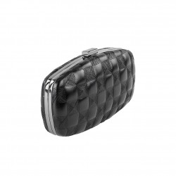 Borsa clutch Lida nera, in ecopelle
