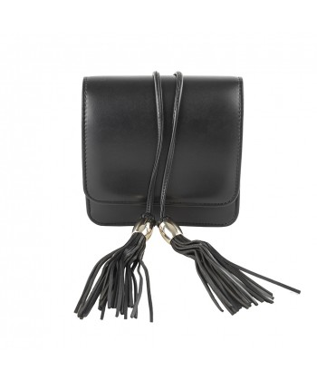 Borsa clutch Sonia, nera in ecopelle