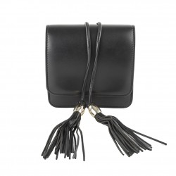Borsa clutch Ilona nera, in ecopelle