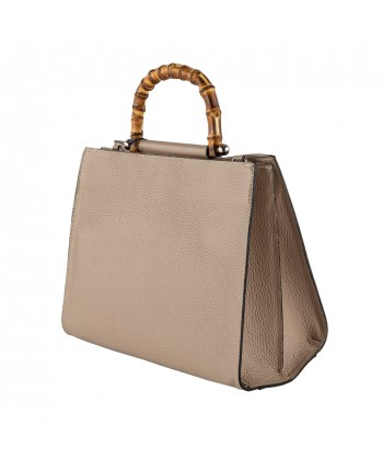 Ginger borsa a mano in pelle colore marrone