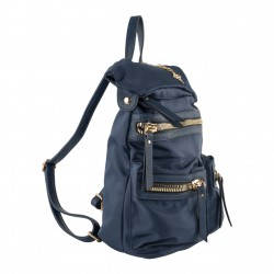 Borsa zaino Elvira in nylon blu