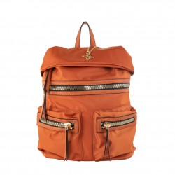 Borsa zaino Elvira in nylon beige