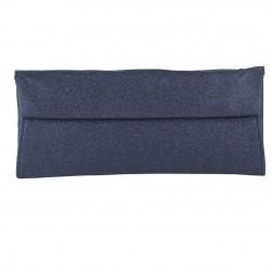 borsa clutch Melodi in tessuto lurexs colore blu