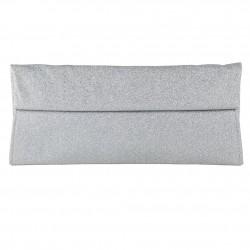 borsa clutch Melodi in tessuto lurex colore argento