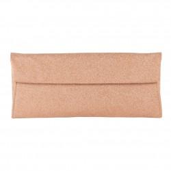 borsa clutch Melodi in tessuto lurex colore rosa