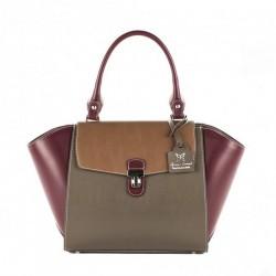 Bolsa, Fabiola Violeta, de coiro, feitos en Italia
