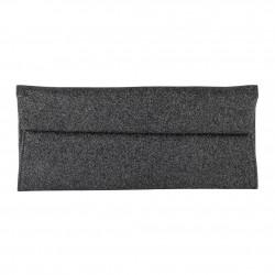 borsa clutch Melodi in tessuto lurex colore grigio