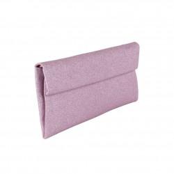 borsa clutch Melodi in tessuto lurex colore lilla