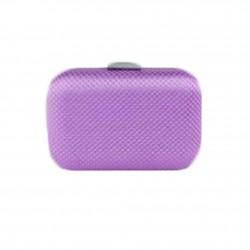 Borsa clutch Mina in tessuto e pietre colore viola