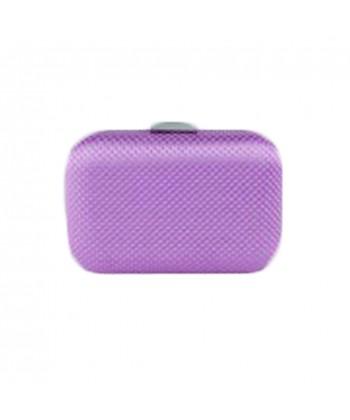 f19ee4b18b bolsa de embrague de color peoni-raso lila y piedras de Mina