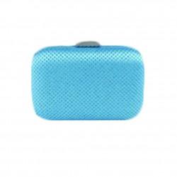 Borsa clutch Mina in tessuto e pietre colore azzurro