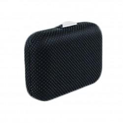 Borsa clutch Mina in tessuto e pietre colore nero