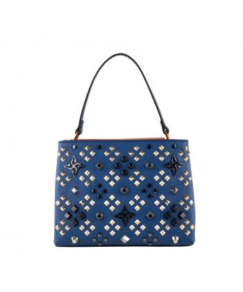 Sac de sac à dos, le Bienheureux Fleurs, en cuir et en tissu, fabriqué en Italie