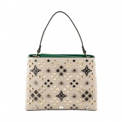Sac de sac à dos, le Bienheureux Diamants, de cuir et de tissu, fabriqué en Italie
