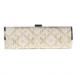 Borsa clutch, Barbara Bianca, in rafia