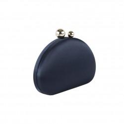 Borsa clutch, Iris blu, in raso