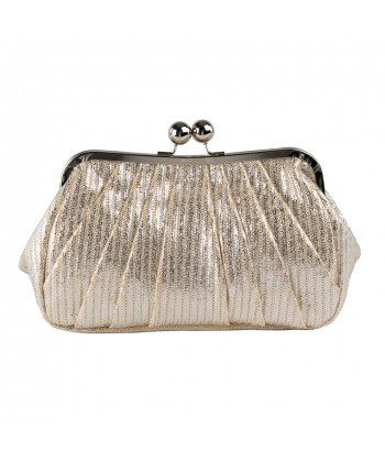 Borsa clutch Patty, argento