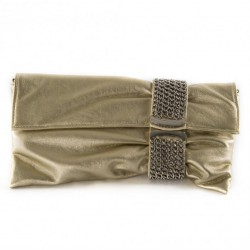 Bag clutch, Morena, Platinum, eco leather
