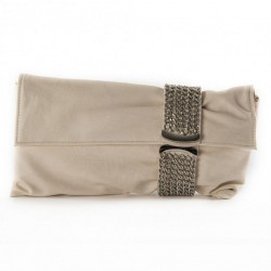 Borsa clutch, Morena Beige, in eco pelle