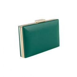 Borsa clutch,Clode verde, in ecopelle