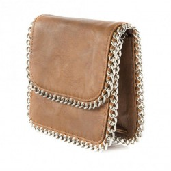 Borsa clutch, Moira Marrone, in eco pelle