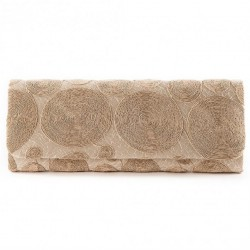 Bag clutch, Sissi, Beige, fabric, and lace
