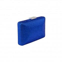Borsa clutch, Yuri azzurra, con strass