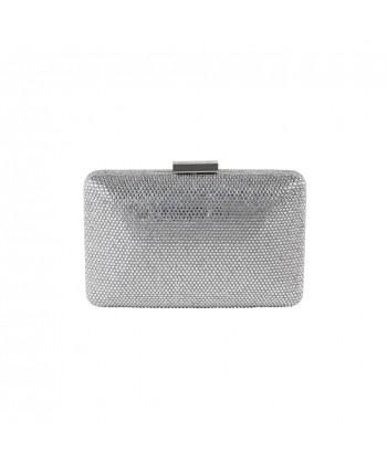 Borsa clutch, Yuri smeraldo, con strass