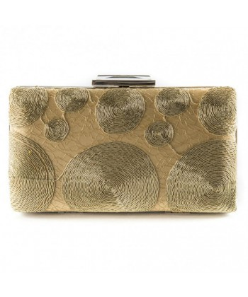Bag clutch, Gem, Gold, fabric and lace