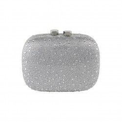 Borsa clatch, Haidi rosa, in strass