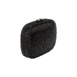 Borsa clutch, Haidi rosa, in strass
