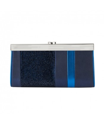 Borsa clatch, Pumba blu, in ecopelle